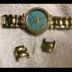 Mk marble watch